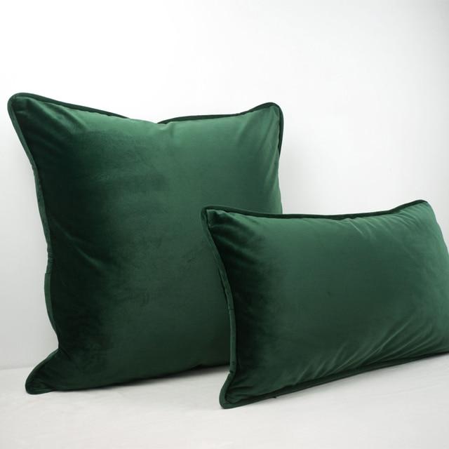 Di alta Qualità Verde Nero Piping Design Velluto Fodere per Cuscini Coperture pe