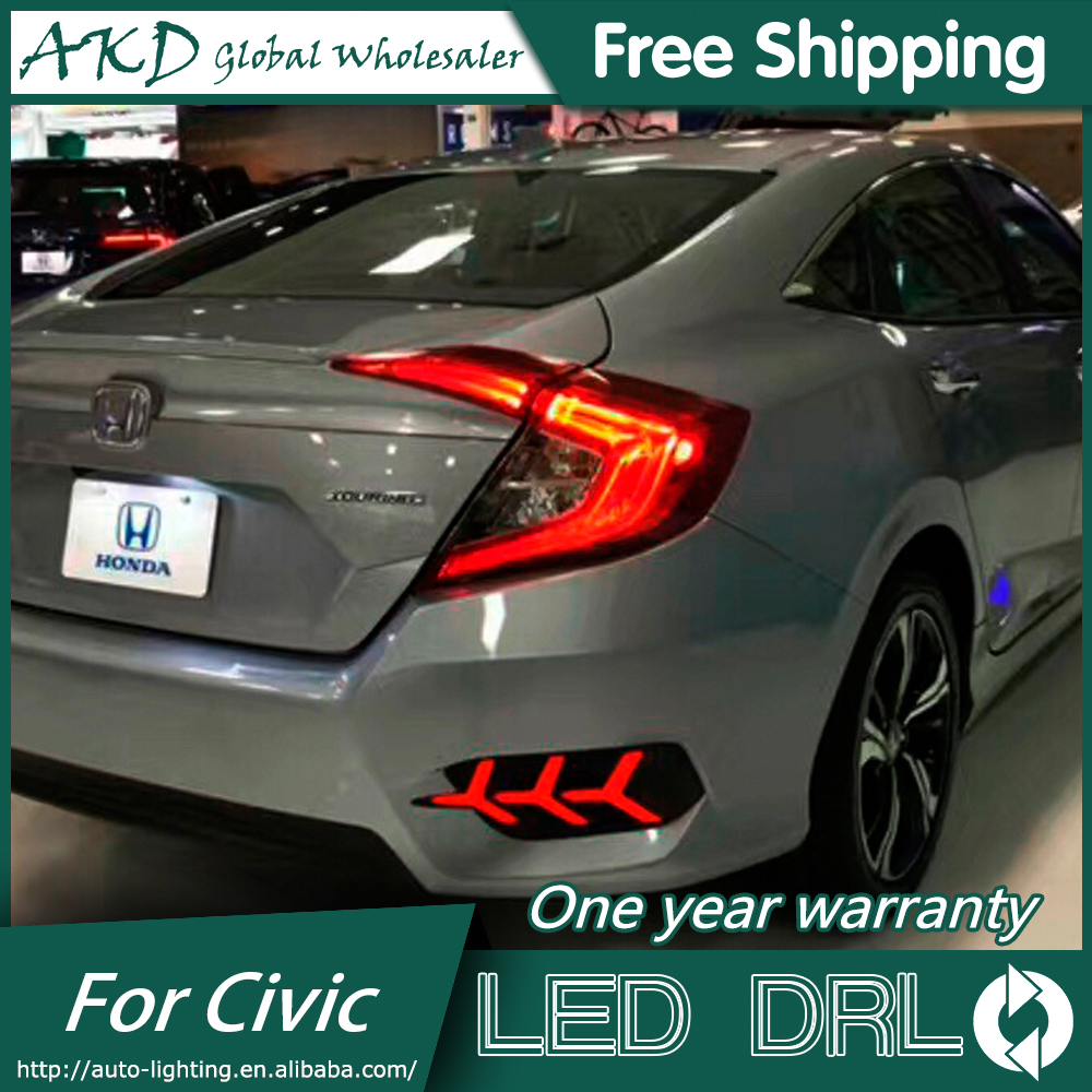 AKD Car Styling for Honda Civic LED DRL 2016-2017 New Civic DRL Daytime Running Light Fog Light Signal Parking Accessories