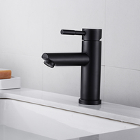 Black/Chrome Bathroom Basin Faucet Stainless Steel Waterfall Basin Sink Mixer Tap Deck Mounted Bathroom