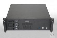 R33390-4 ITX Motherboard 4 hot pluggabel USB3.0 LCD display 3U Server Computer case