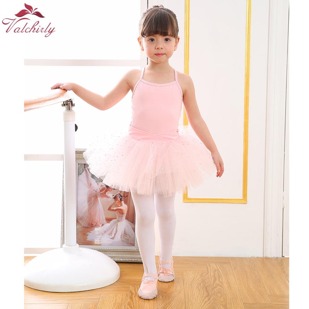 New Ballet Bodysuit Girls Dance Costumes Kids Leotard Tutu Ballerina Sparkled Ballet Clothing For Girls