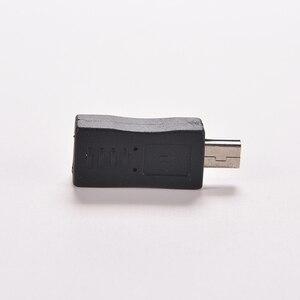 Image 3 - 1PC Schwarz Micro/Mini 4 Typ Gerade/L Form USB Weiblichen zu Mini/Micro USB Männlich adapter Ladegerät Stecker Konverter Adapter