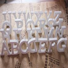 Rdwe белыми буквами алфавита толстый decor home деревянный свадьба рождения