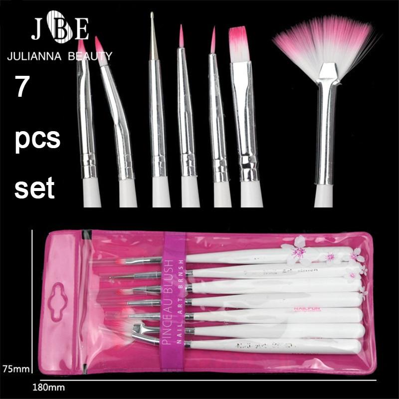 3 Sets 7Pcs Liner Nail Art Brush Set Tools Nail DIY Painting Pen False Nail Tips UV Nail Gel Polish Equipment Tool For Salon Use