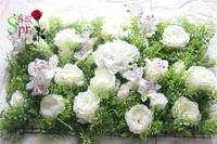 SPR Free Shipping 10pcs/lot Artificial rose & peony &hydrangea flower wall wedding backdrop artificial flower plastic panel wall