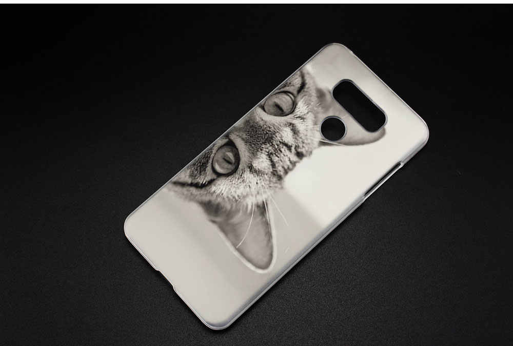 BINYEAE забавный кот тайно жесткий прозрачный чехол для LG q6 G6 мини G5 SE G4 G3 V10 V20 V30