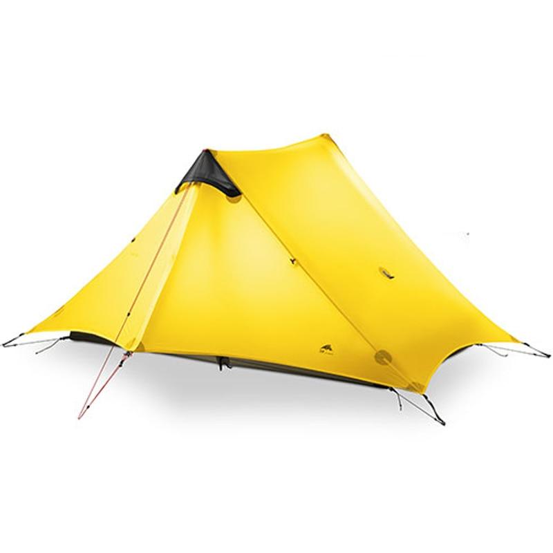3F UL VITESSE 3 Saison Tente 2 Personne Oudoor Ultra-Léger Camping Randonnée Tente Professionnel 210 t Nylon Sans Tige Tente Pour double Couches