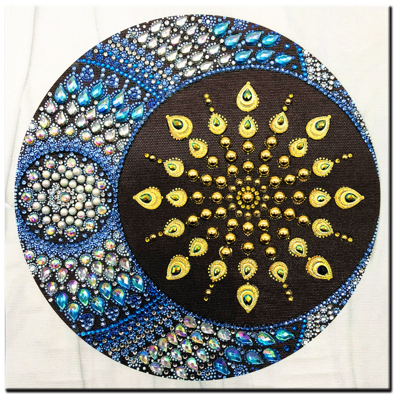 RUBOS DIY 5D Diamond Embroidery Mandala Sun Triptych Diamond Painting Multi Picture Rhinestones Pearl Big Mosaic Sale Wall Decor (26)