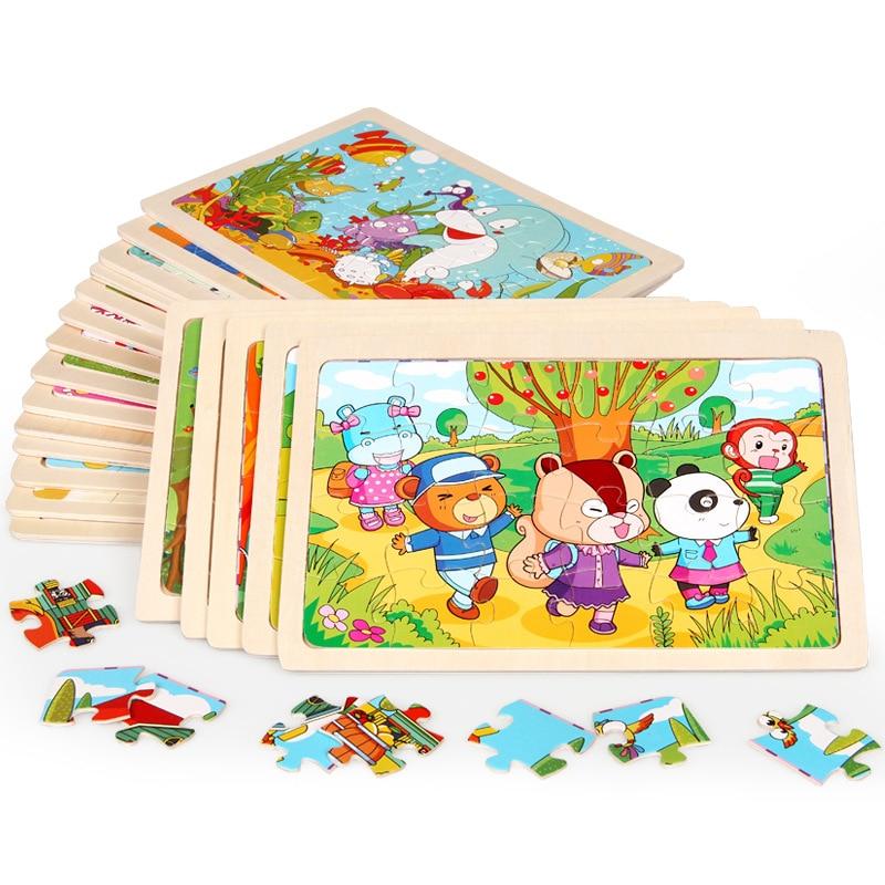 Doelbewust Nieuwe Stijl Baby Speelgoed 24 Pcs Cartoon Dier Puzzel Happy Farm Foto Houten Speelgoed Kids Educatief Gift Yugioh Goedkope Verkoop 50%