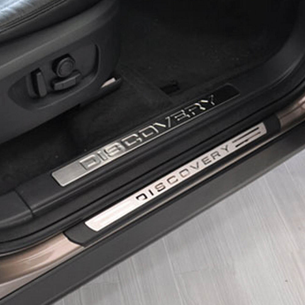 Door Welcome Pedal threshold Sill Board Protective Cover Sticker Trim for Land Rover Discovery Sport Exterior Accessories