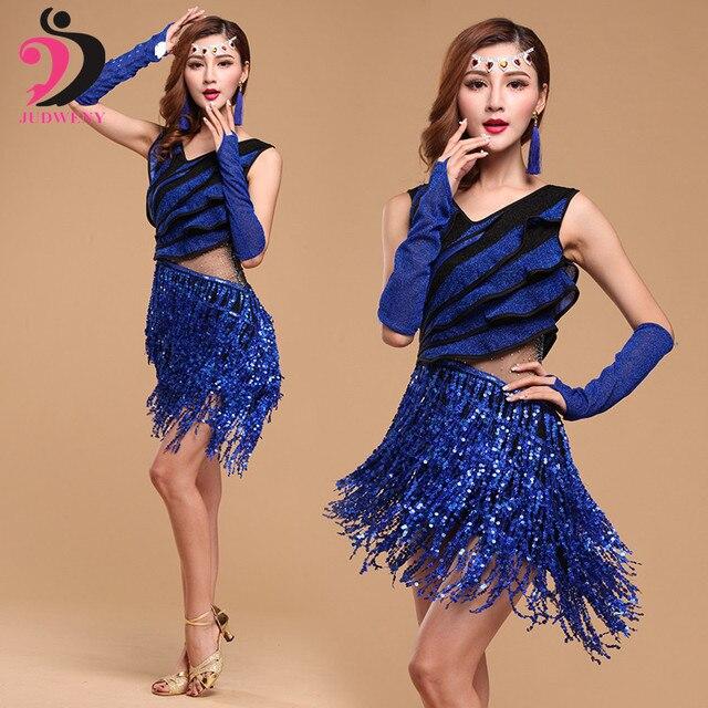 Latino trajes para las mujeres para fiesta Salón Tango dancewear salsa  Vestidos vestido baile Latino o 87b6e65513f