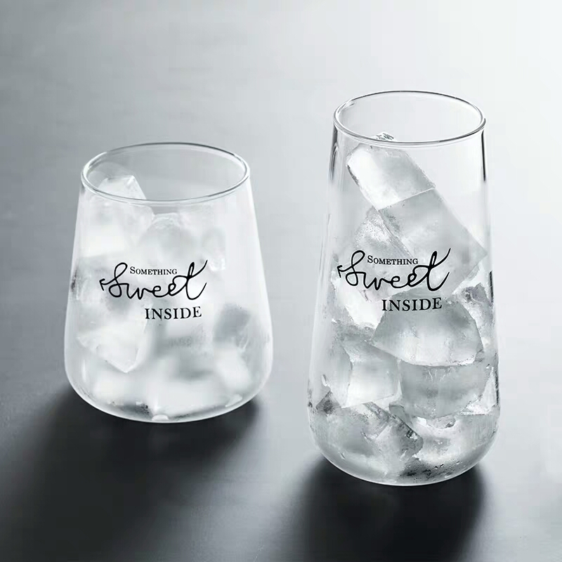 1Pc Glass Coffee Cup Brief Style Water Glass Milk Juice Dessert Cup Clear Glass Beer Mug Iced Tea Cafe Latte Cup Drinkware Gifts (4)