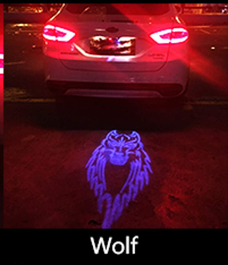 Car Laser Tail Logo Led Light Anti Collision Rear-end Fog Light Rearing Warning Light for BUICK Enclave Lucerne Encore Excelle car laser fog lights for chrysler 300 1998 2004 rear tail warning lamp vehicle collision warning traffic crash proof light