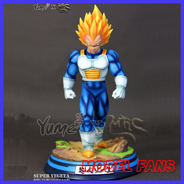 MODEL FANS IN-STOCK Dragon Ball Z MRC 34cm super saiyan Vegeta GK resin statue figure for Collection гурина и потягушки на подушке потешки с наклейками