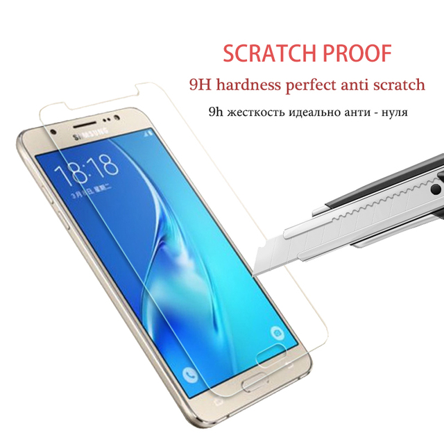 Protective Glass on the For Samsung Galaxy J3 J5 J7 A3 A5 A7 2015 2016 2017 A6 A8 Plus 2018 Tempered Screen Protector Glass Film 3