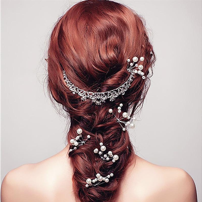 HTB1TpEaOVXXXXaEaFXXq6xXFXXX5 5-Pieces Pearl Flower Wedding Hair Clip Ornaments For Women