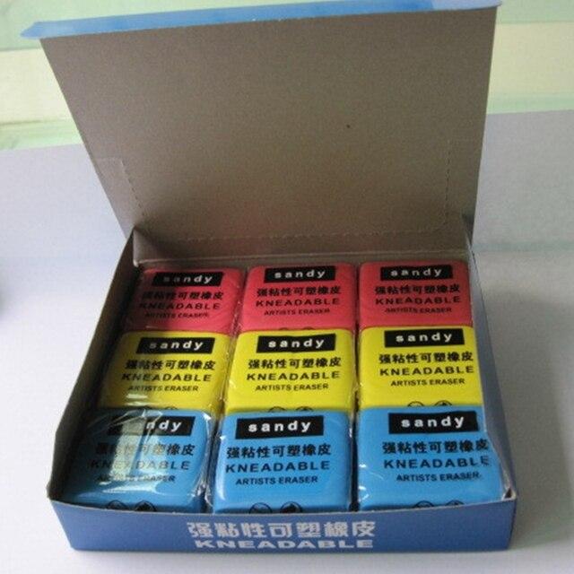 4 pièces de couleur malaxée en caoutchouc crayon Art croquis dessin gomme Pastel peinture gommes artiste Plasticine école bureau papeterie