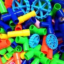 Baby Color Water Pipe Building Blocks for batch DIY Assembling Pipeline Tunnel Model Toy Compatible with Most