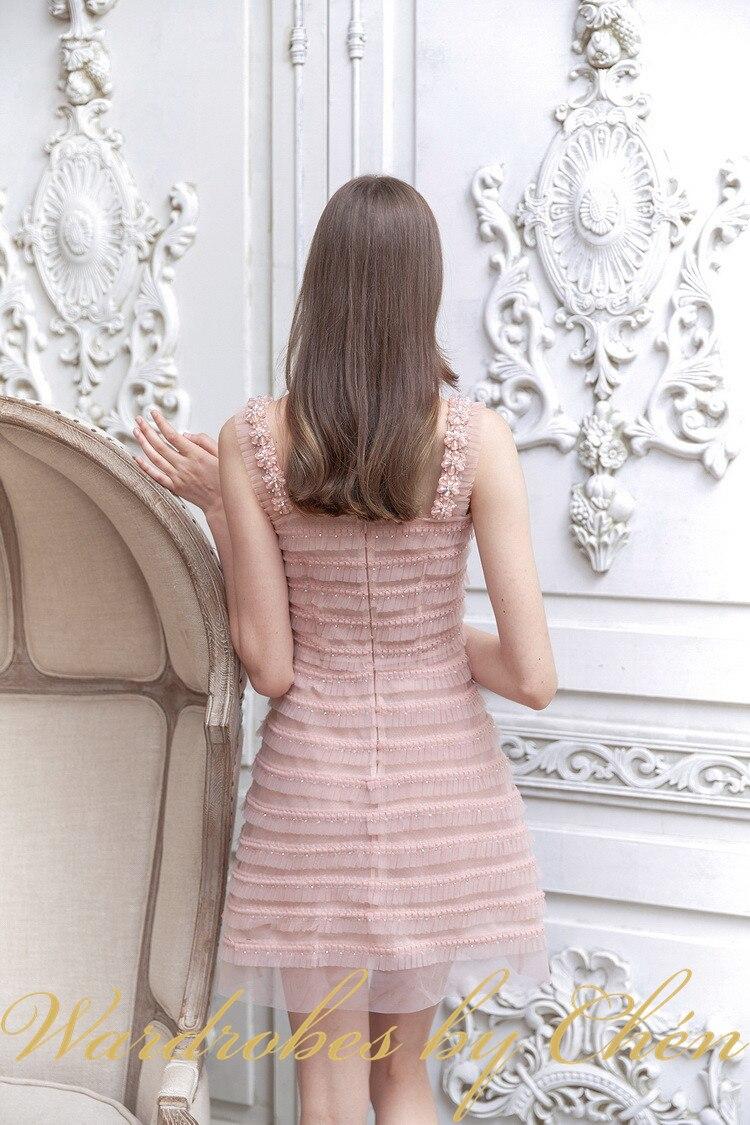 EASYSMALL Vrouwen jurk Mode Zomer Strand Sexy Backless high end Kant Patchwork feestavond Hoge Taille mouwloze Jurken - 5