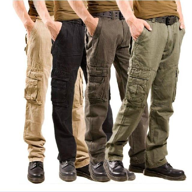 2016 Nuevos hombres Pantalones Tácticos Militares Hombre Hombres de Camuflaje de Carga Masculinos pantalones Overoles Pantalones Casuales 9 Color Plus de Gran Tamaño 38