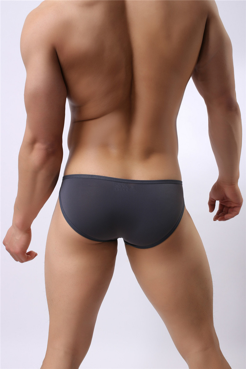 Mens Nylon Slip Small Mesh Breathable Briefs Low Rise Sexy Fashion Lock Buckle Men Bikini Underwear Briefs Brave Person 26