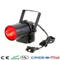 Red Color 10W LED Spotlight Narrow Beam PinSpot Stage Lighting With Mount For DJ Disco Party
