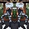 Mujeres pantalones de las polainas de Impresión de camuflaje gimnasio leggings silm pantalones de entrenamiento más el tamaño S-XL 19