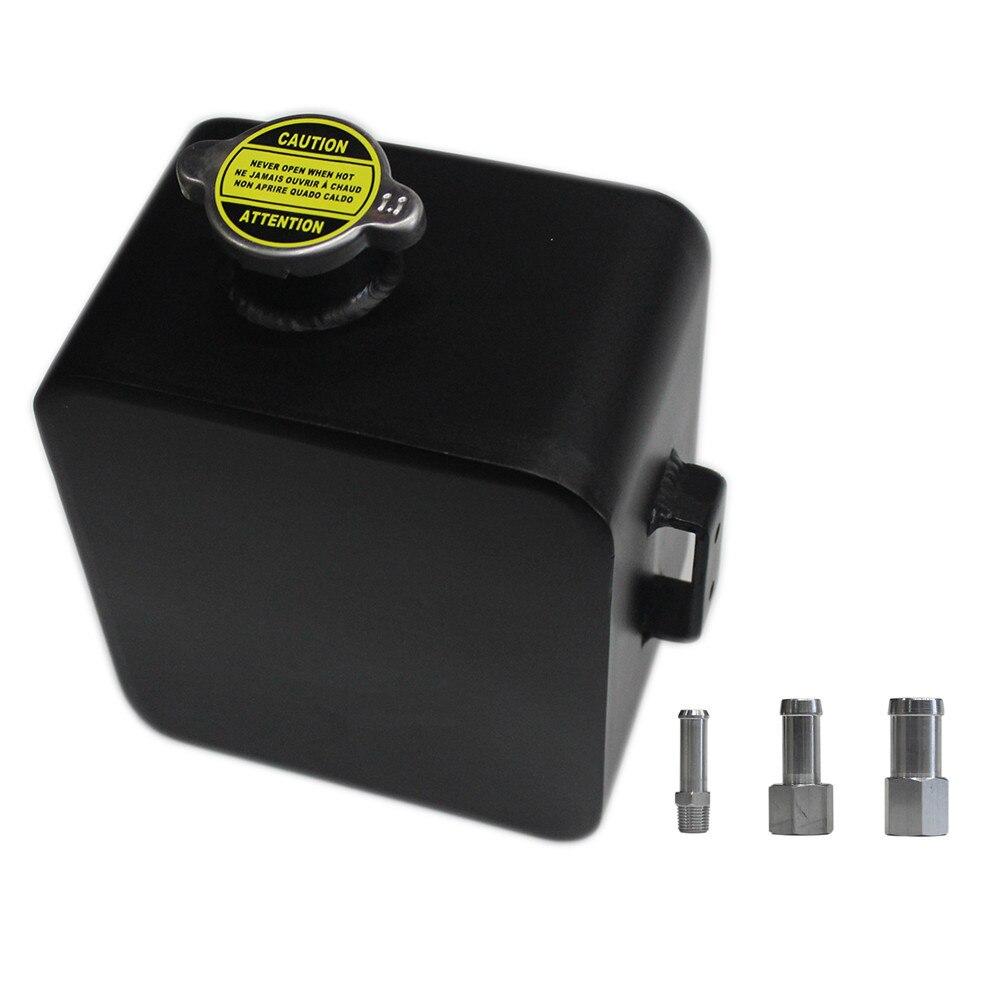 SPSLD Auto poli alliage en-tête Expansion réservoir d'eau et bouchon de débordement d'eau liquide de refroidissement peut réservoir Kit universel 2000 ML