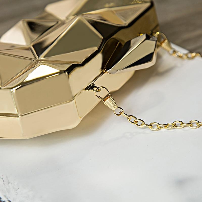 MOSORAB Gold Acrylic Box Geometry Clutch Evening Bag Elegent Chain Women Handbag For Party Shoulder Bag For Wedding/Dating/Party 4