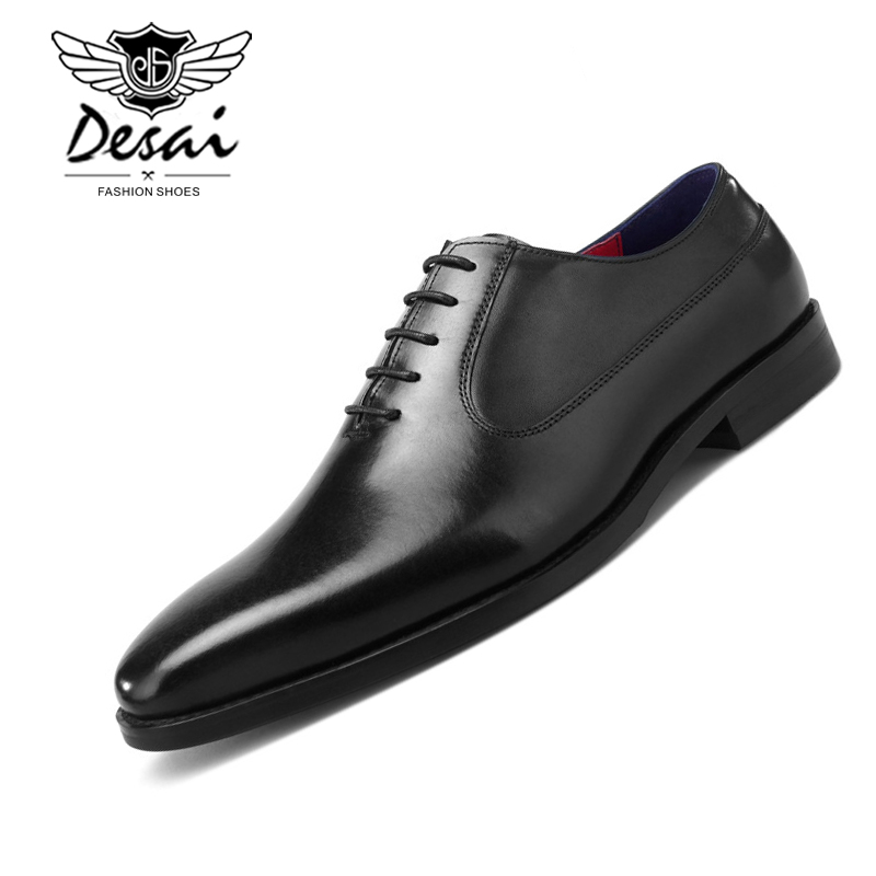 Mens Formal Shoes Genuine Leather Oxfords Italian Handmade Black Business Dress Wedding Shoes Lace Up Calf Leather Party ShoesMens Formal Shoes Genuine Leather Oxfords Italian Handmade Black Business Dress Wedding Shoes Lace Up Calf Leather Party Shoes