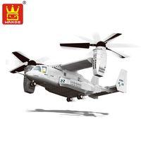 Wange Yapı Taşları Askeri F15 Fighter J-15 V-22 Osprey Tiltrotor Uçak Helikopter Modeli Bina Kitleri Çocuklar Için Oyuncaklar