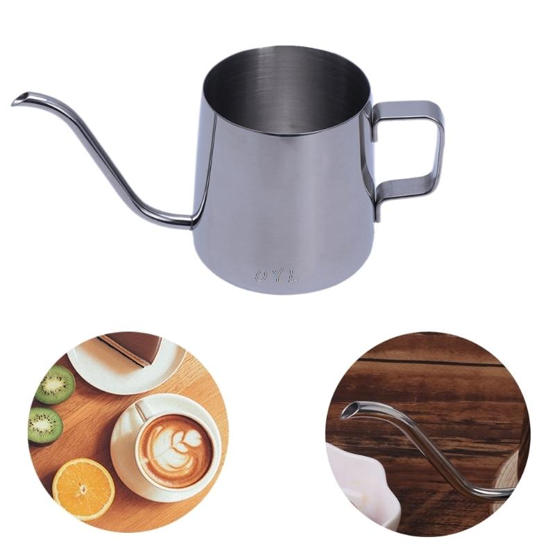 Stainless Steel Gooseneck Coffee Maker Hanging Ear Drip Spout Pot Tea Kettle 250MLStainless Steel Gooseneck Coffee Maker Hanging Ear Drip Spout Pot Tea Kettle 250ML