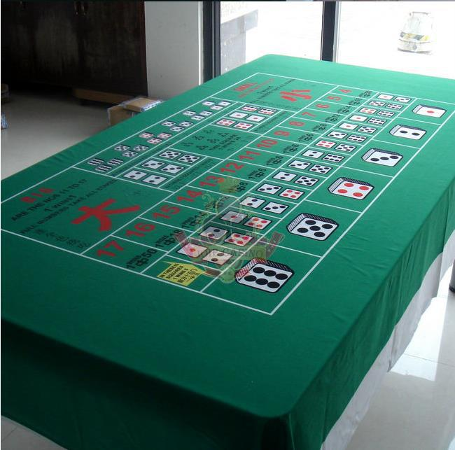 WP-009  Professional Water Resistant Poker Table Cloth,  Casino Layout Game Cloth 1PC
