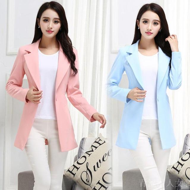 Women Casual Blazer Suit Plus Size Jacket Ladies Formal Coats Slim