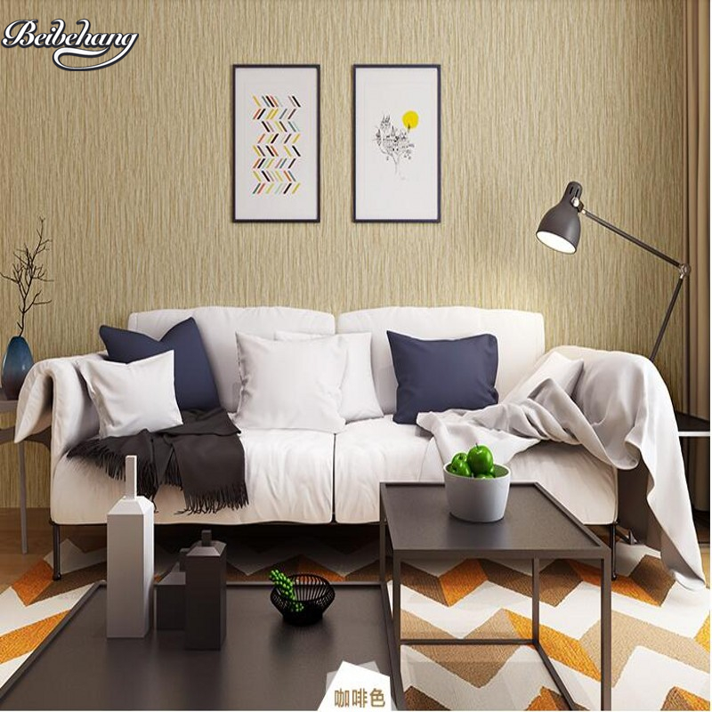 beibehang Modern Simple Nonwovens Wallpaper Waterproof Living Room Bedroom Pure Color Plain Wallpaper TV Sofa Background beibehang nonwovens healthy fashion