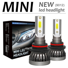 2pcs 9012 72 W 12000LM 6000 K светодиодный автомобильный комплект фар противотуманная Автомобильная фара Hi или Lo лампочки