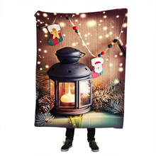 Flannel Fleece Fabric Blanket Christmas Gift New Year Soft Warm Decoration Bedroom Home Textile 3 Sizes 1 PCS