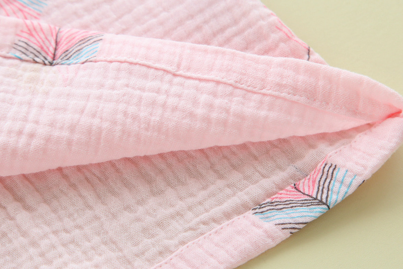 Image 5 - Новинка, летние шорты с короткими рукавами, пижамы для женщин, 100% хлопок креп, мультфильм, перо, принт, пижамы, отложной воротник, домашний костюм-in Комплекты пижам from Нижнее белье и пижамы on AliExpress - 11.11_Double 11_Singles' Day