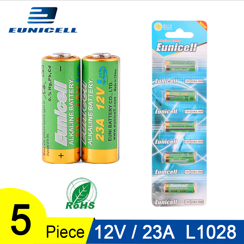 5PCS Alkaline Dry Battery <font><b>12V</b></font> 23A 21/23 <font><b>A23</b></font> E23A MN21 MS21 V23GA L1028 Small Batteries for Toys, Doorbell, Remote Control etc image