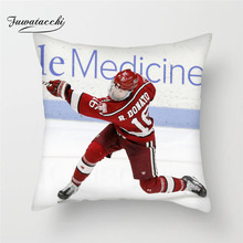 Fuwatacchi NHL Cushion Cover Ice Hockey Pillow For Decor Home Sofa Bedroom Chair Decorative Square Linen Pillowcase