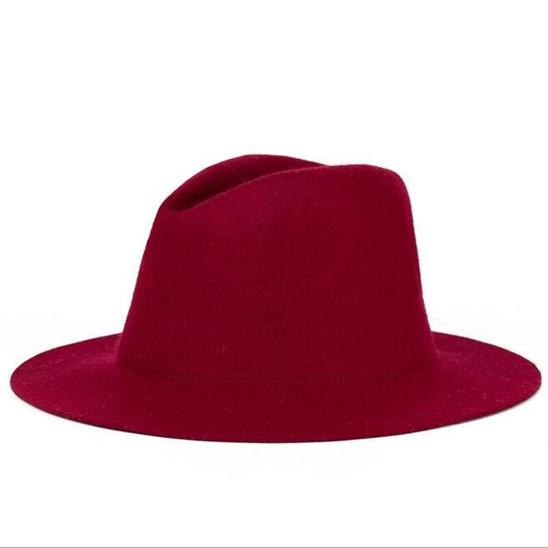 Mens Wool Felt Snap Brim Hat Trilby Women Vintage Wool Panama Fedora Cloche Cap Wool Felt Jazz Hats 11 colors free shipping