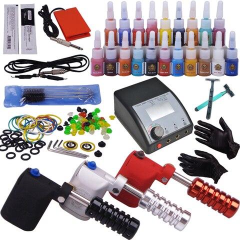 abastecimento de maquiagem permanente 3 armas kit maquina de tatuagem completo kit body piercing profissional