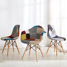 Креативный нордический обеденный стул для приема, чтобы обсудить стул для гостиной, современный минималистичный домашний стул из твердой древесины