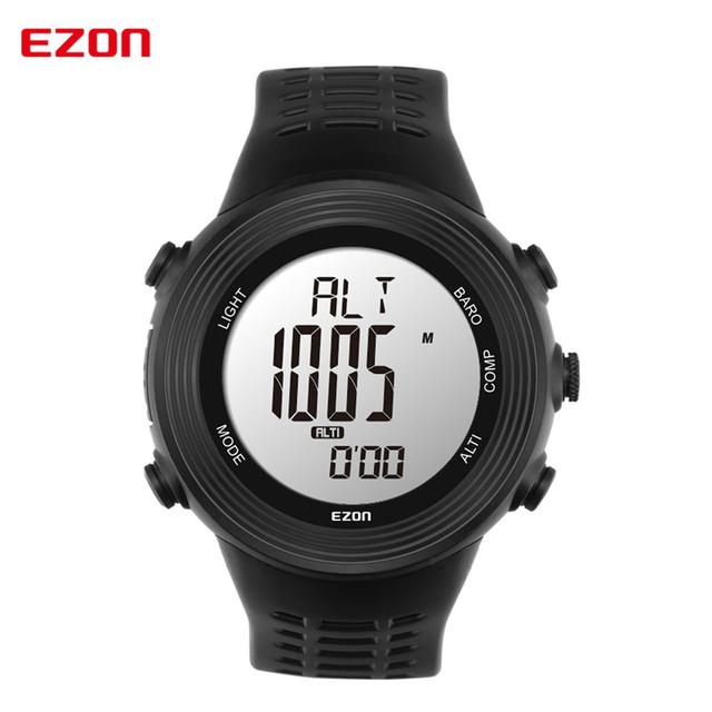 2016 Nova Moda esportes EZON relógio bússola sensor de pressão calibre de Mens moda relógio Militar 5ATM à prova d' água para caminhadas