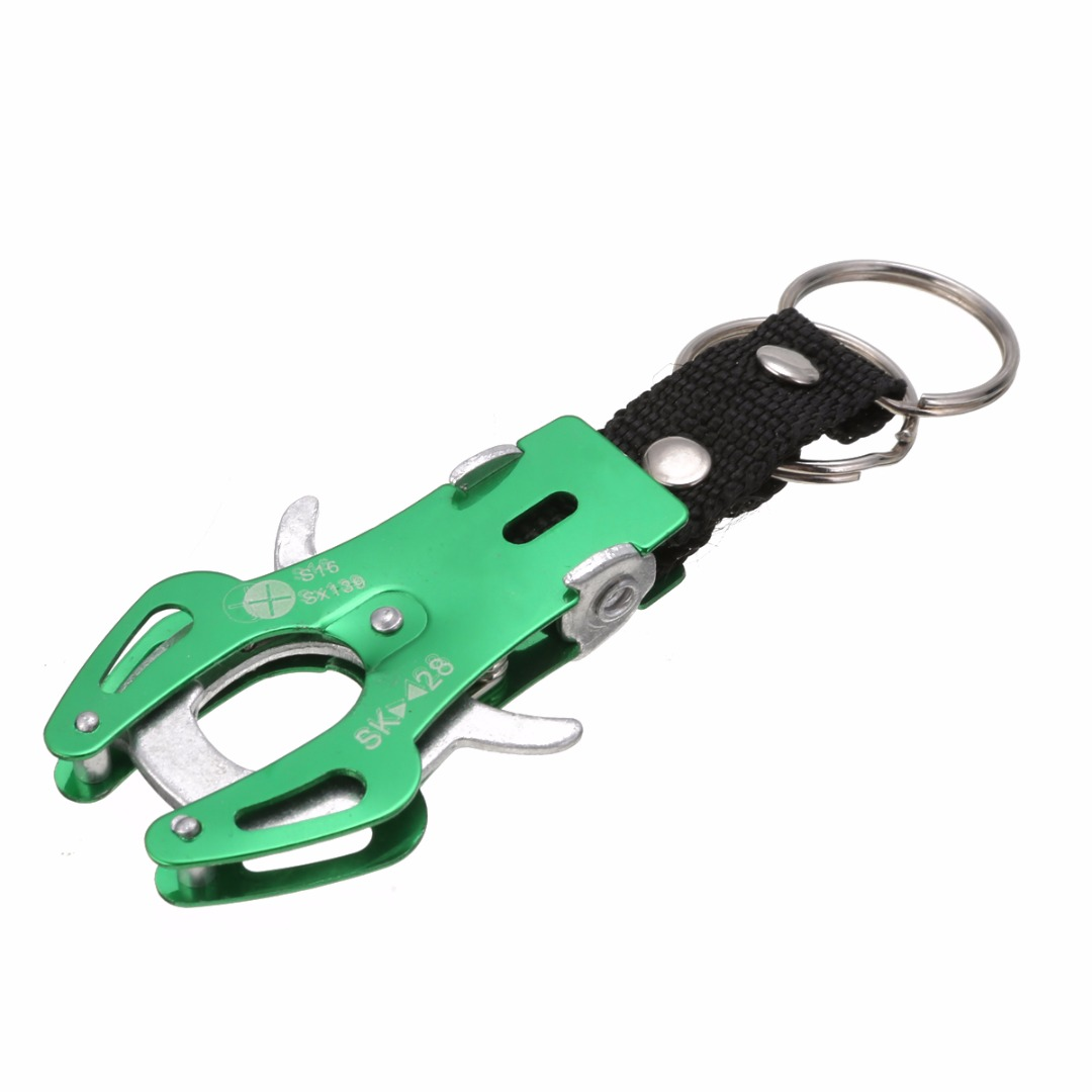 1 pcs Light Weight and Durable Buckle Climbing Hook Carabiner Clip Lock Keyring Keychain Outdoor Sport Camping