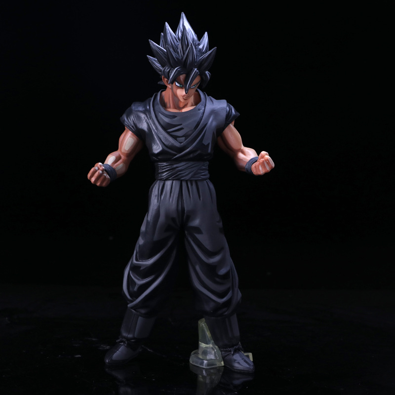 Dragon Ball Super Saiyan Chocolate Son Goku Pvc Activity Action Figure Model Toy Limited Edition Display Toy Birthday Gift dragon ball z super saiyan vegeta and son goku pvc action figure model toy dragon ball diy display toy cartoon birthday gift