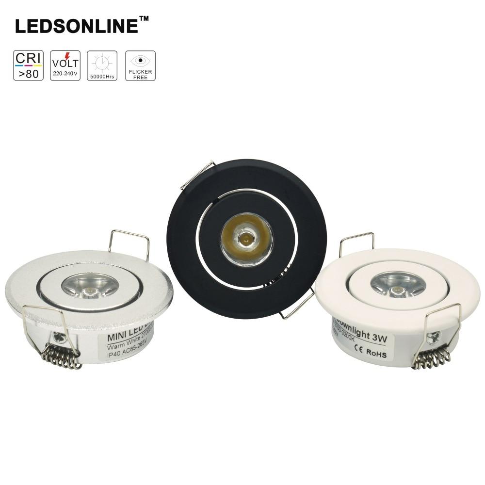 Mini Downlight Led Cabinet 1w Recessed Spot Light Led