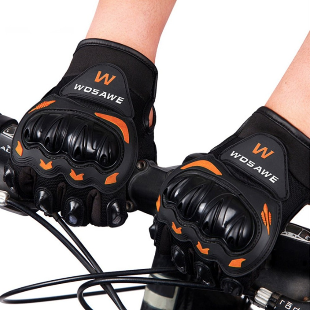 WOSAWE Outdoor Cycling Gloves Windproof Bicycle Motorcycle Full Finger Gloves Women Men Drop-resistant Safety Gloves qepae f7506 comfortable professional motorcycle bicycle full finger gloves red black pair xl