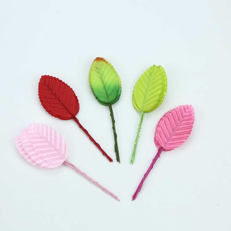 10 個の人工植物装飾花花冠クリスマス家の装飾の結婚式 diy ギフトボックスシルク葉偽葉