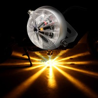 Universal Fit Aluminum Retro CREE LED Tail Laser Light Motorcycle Clear Lens Stop Warning Light For